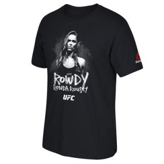 Ronda Rousey UFC 193 Reebok Weigh In Rowdy T Shirt   Black