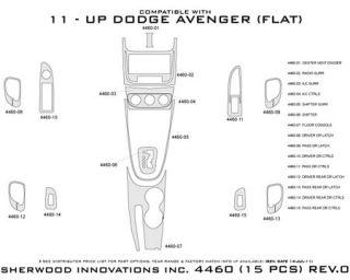 2011, 2012, 2013 Dodge Avenger Wood Dash Kits   Sherwood Innovations 4460 N50   Sherwood Innovations Dash Kits