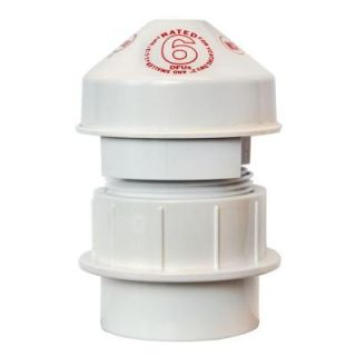 Oatey 1 1/2 in. PVC 6 DFU Air Admittance Valve 39230