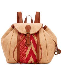 Lucky Brand Kendal Linen Medium Backpack   Handbags & Accessories