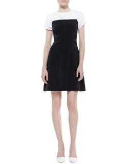 kate spade new york tala sleeveless colorblock dress, cream/black