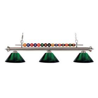 Filament Design Kerstin 3 Light Brushed Nickel Billiard Light CLI JB048322