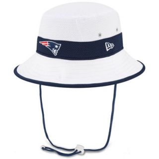 New England Patriots New Era On Field Training Camp Bucket Hat   White