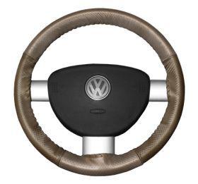 2015 Toyota Sienna Leather Steering Wheel Covers   Wheelskins Sand Perf/Oak Perf 15 1/4 X 4 1/2   Wheelskins EuroPerf Perforated Leather Steering Wheel Covers