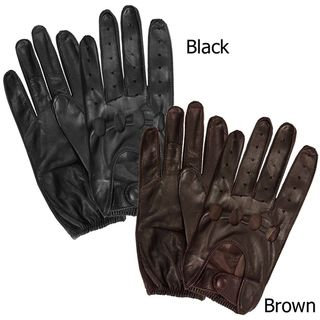 Isotoner Mens Leather Unlined Driving Gloves   Shopping