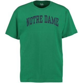 Notre Dame Fighting Irish Alta Gracia (Fair Trade) Arch and Logo Leonte T Shirt   Kelly Green