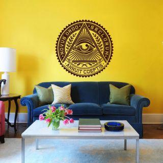 All Seeing Eye Illuminati Eye Annuit Coeptis Vinyl Sticker Wall Art