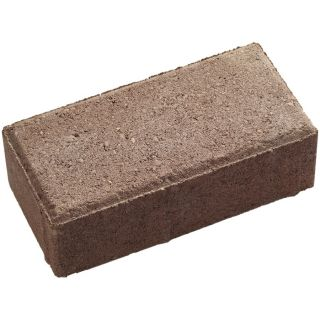 Red Charcoal Holland Concrete Paver (Common: 4 in x 8 in; Actual: 3.875 in x 7.875 in)