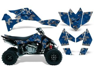 2006 2009|Suzuki|LTR|450::AMRRACING ATV Graphics Decal Kit:Dog Fighter Blue