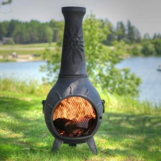 The Blue Rooster Sun Stack Chiminea with Gas Kit