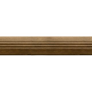 allen + roth Tobacco Wood Single Curtain Rod