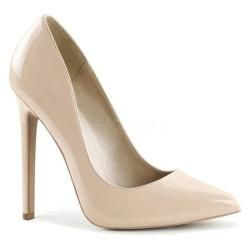 Womens Pleaser Sexy 20 Pump Nude Patent   17446589