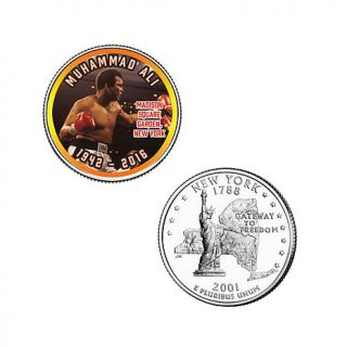 Set of (5) 5 piece Colorized Muhammad Ali State Quarters   8188273