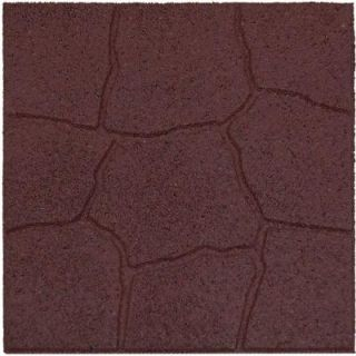 Envirotile 18 in. x 18 in. Flagstone Terra Cotta Rubber Paver DISCONTINUED MT5000699
