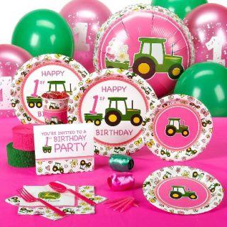 John Deere 1st Birthday Standard Party Pack for 16