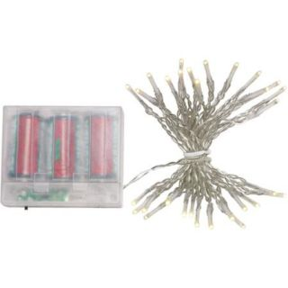 Holiday Time Battery Operated LED Christmas Lights with Timer, Warm White, 60 Count