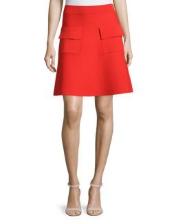 A.L.C. Ali Sleeveless Cropped Ponte Top & Aaron A Line Ponte Skirt