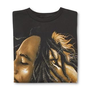 Young Mens Graphic T Shirt   Bob Marley Lion   Clothing, Shoes