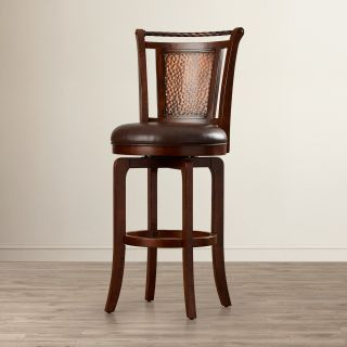World Menagerie Armando 30.5 Swivel Bar Stool with Cushion