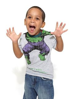 Fabric Flavours Boys Headless Hulk T Shirt Grey
