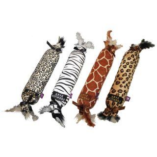 Multipet Animal Print Katz Kickers Plush Dog Toy   17078542