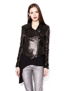 Murai Asymmetrical Leather Motorcycle Jacket by Kimberly Ovitz