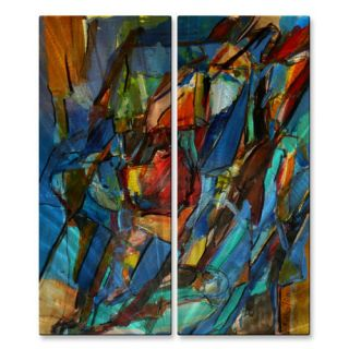 Rib Cage 56 by Wendy Morris 2 Piece Painting Print Plaque Set by All