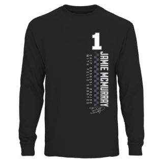 Jamie McMurray Finish Line Long Sleeve T Shirt   Black