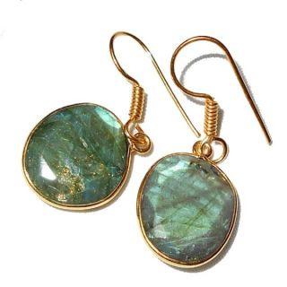 Ashanti Sterling Silver Labradorite Gemstone Handmade Earrings (Sri