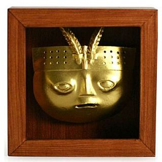 Novica Papier M ch  Shadow Box Mask Sculpture by Jaime Zapata Graphic Art