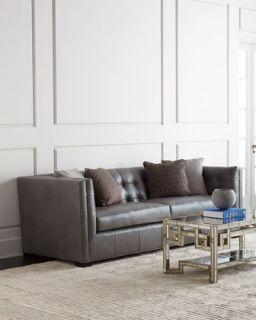 Hayden Tufted Leather Sofa
