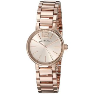 Marc Jacobs Womens MBM3406 Peggy Round Rose Gold tone Stainless Steel