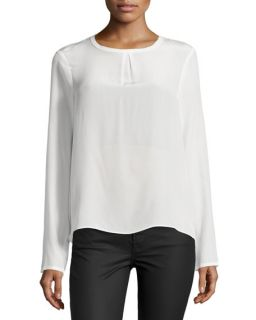 Nicole Miller Syracuse Solid Enzyme Top, Ivory