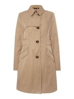 Dawn Levy Cotton Trench Coat Black