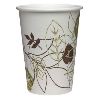 DIXIE 12 oz. Disposable Cold Cup, Polyethylene Paper, White, PK 2400   Disposable Cups   38V868|12PPATH
