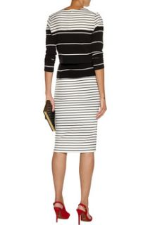 Peggy striped wool blend pencil skirt  Tanya Taylor