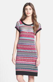 Laundry by Shelli Segal Multi Stitch Sweater T Shirt Dress
