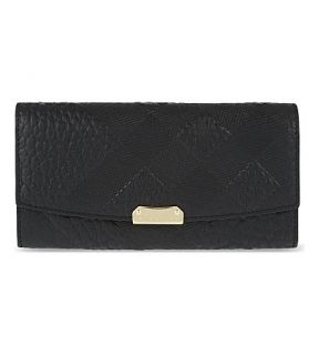 BURBERRY   Porter leather clutch