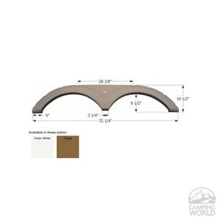 Keystone Tandem Fender Skirt FS1705   Polar White   Icon Technologies 01705   Fender Skirts