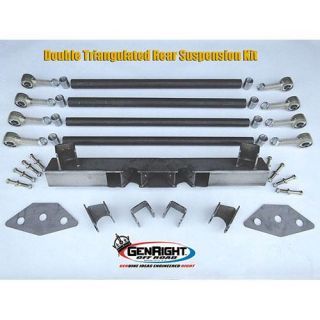 GenRight   GenRight 4 Link Suspension Kit SUP 4201   Fits 1987 to 2006 Jeep Wrangler TJ & YJ