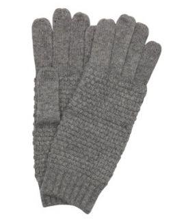 Wyatt Heather Grey Wool Blend 'minerva' Popcorn Stitch Gloves (364208602)