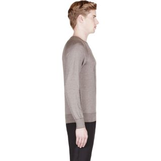 Alexander McQueen Brown Rice Stitch Embroidered Skull Sweater