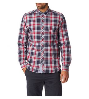 TED BAKER   Checked regular fit single cuff shirt