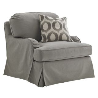 Lexington Oyster Bay Stowe Slipcover Swivel Arm Chair in Gray   01 7476 11SWGY 60