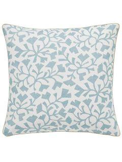 Sanderson Dawn chorus/Batik leaf cushion 40x40cm