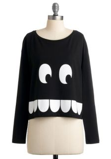 Monster in My Closet Top  Mod Retro Vintage Long Sleeve Shirts