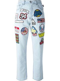 Gcds Patched Jeans   Tiziana Fausti