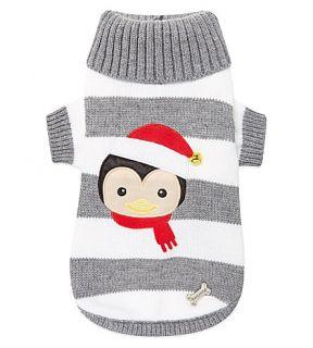 PET LONDON   Stripy penguin knitted pet top