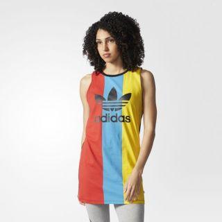 adidas Trefoil Tank Dress   Multicolor