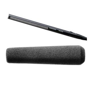 Sennheiser MKH 416 Short Shotgun Interference Tube Mic With Gray Foam Windscreen MKH416 P48 A